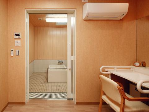 高槻市の有料老親ホームココリ 脱衣室